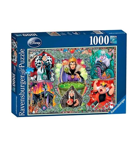 Puzzle 1000 – DISNEY – Mujeres Malvadas – Ravensburger
