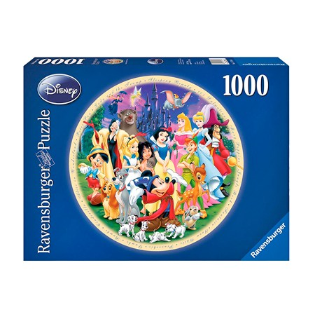 Puzzle 1000 – DISNEY – Redondo Personajes – Ravensburger