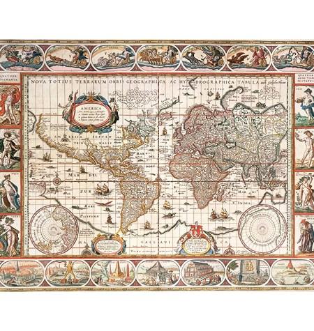 Puzzle 2000 Mapamundi Antiguo año 1650 – Ravensburger