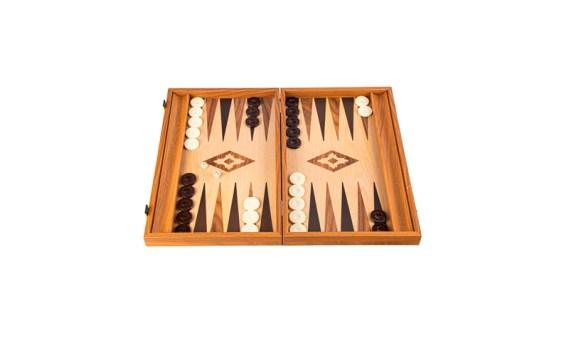 Backgammon Grande Madera-EF. NOGAL CLARO