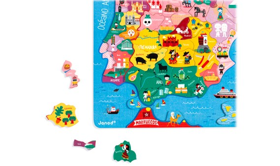 España Magnético Puzzle de Madera – 50 Piezas