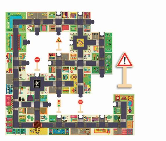 La Ciudad – Puzzle gigante y juego coches