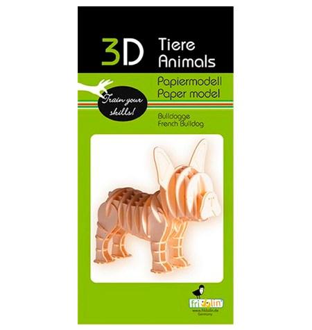 Paper Model – Perro Bulldog Francés