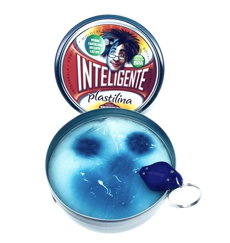 Plastilina Inteligente FANTASMA Azul Glaciar