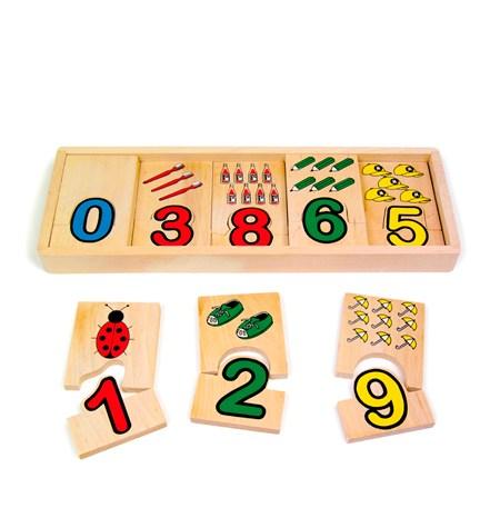 Puzzles 2 Piezas de Madera con Números