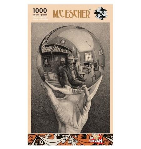 Puzzle 1000 B/N ESCHER – Mano con Esfera – Puzzelman