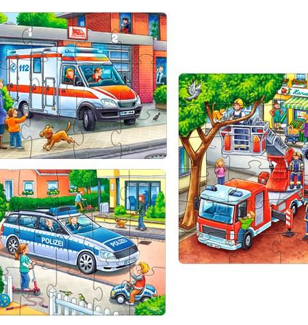 Puzzle 12, 15, 18 Policía, Bomberos y Compañía – Haba