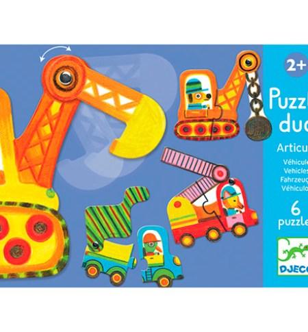 Puzzle DUO Vehículos – Djeco