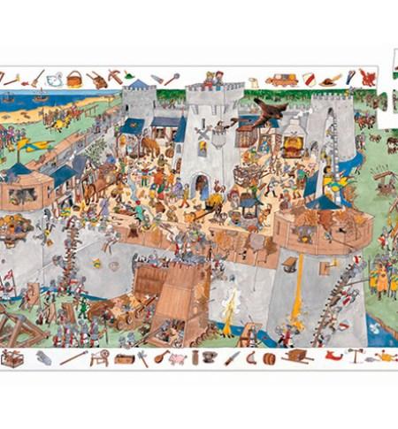 Puzzle y Juego 100 Castillo – Djeco