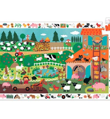 Puzzle y Juego 35 Granja – Djeco