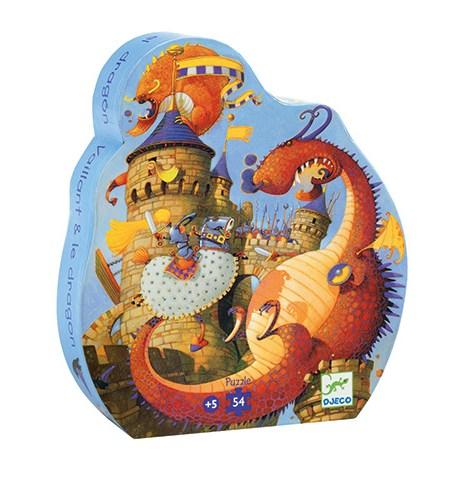 Puzzle 54 SILUETA Vaillant y el Dragón – Djeco