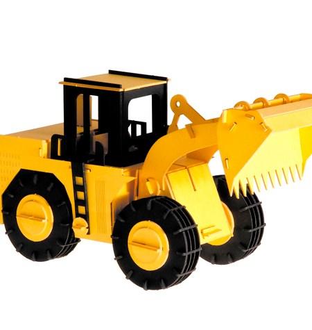 Paper Model – Vehículo Tractor con Pala de carga