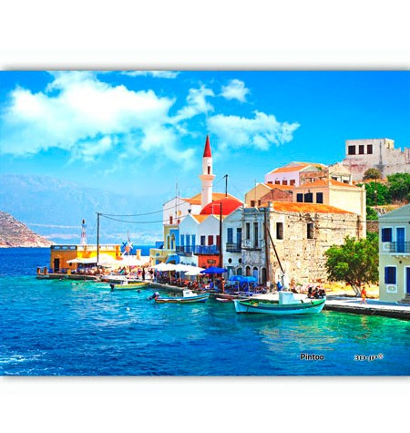 Puzzle 150 MINI – Piezas de Plástico – The Beautiful Greece Bay – Pintoo