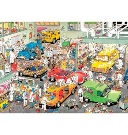 Puzzle 500 CÓMIC Jan V. Haasteren – Car Respraying Shop – Jumbo