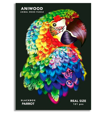 Puzzle 121 Madera MD – Loro – Aniwood