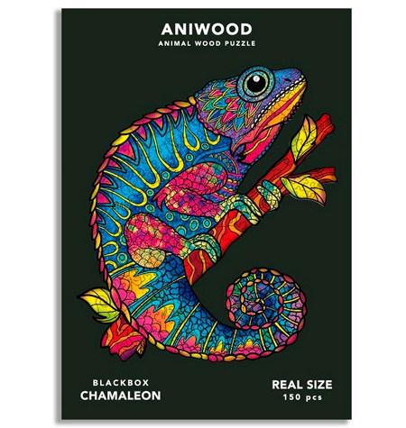 Puzzle 150 Madera MD – Camaleón – Aniwood