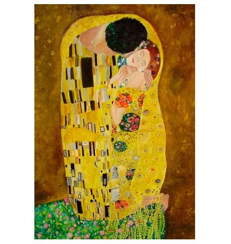 Puzzle 80 Madera – El Beso, Klimt