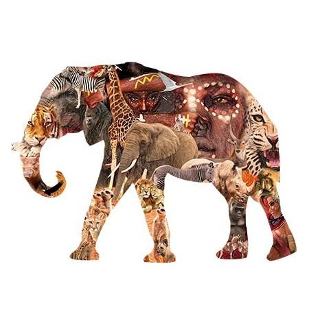 Puzzle 80 Madera – SILUETA Elefante – SPuzzles