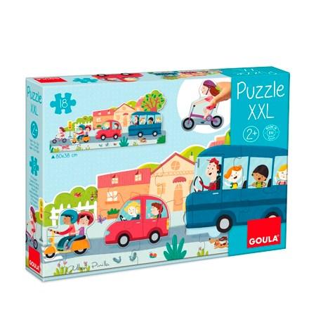 Puzzle 1, 2, 3, 4 y 18 Vehículos – Goula