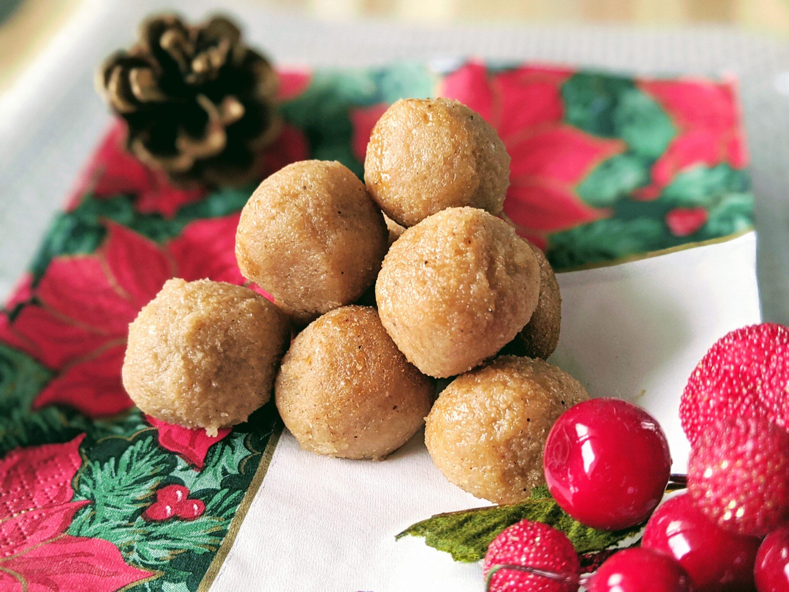 Eggnog Dough Balls