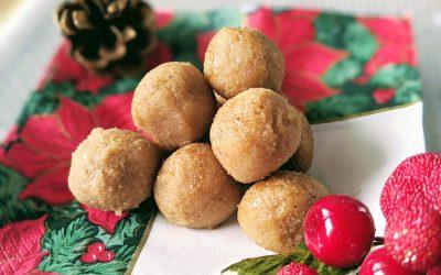 Eggnog Dough Balls (Raw, Dairy Free, Plant-Based)