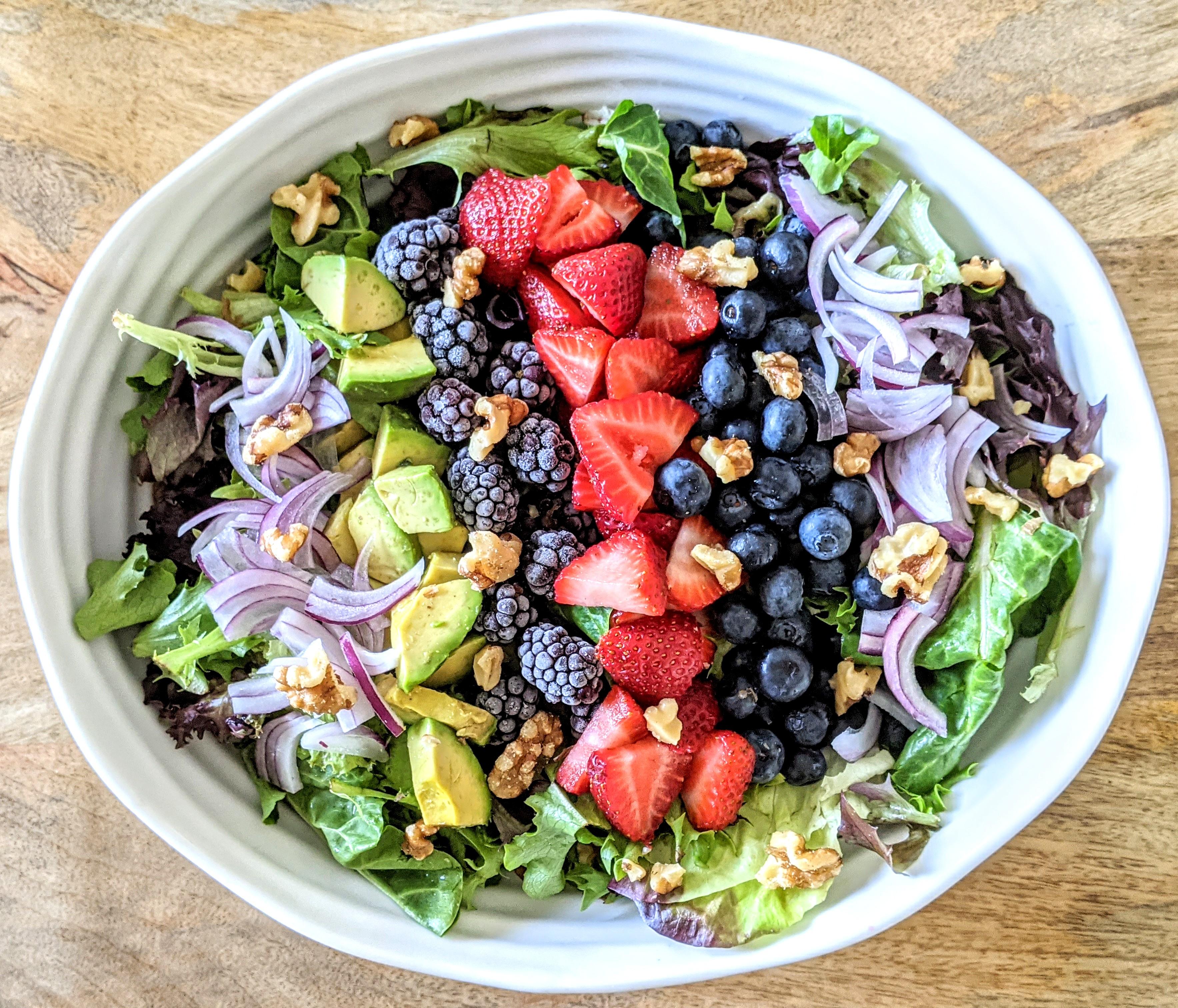 Triple Berry Summer Salad (AIP, Plant-Based, Paleo)