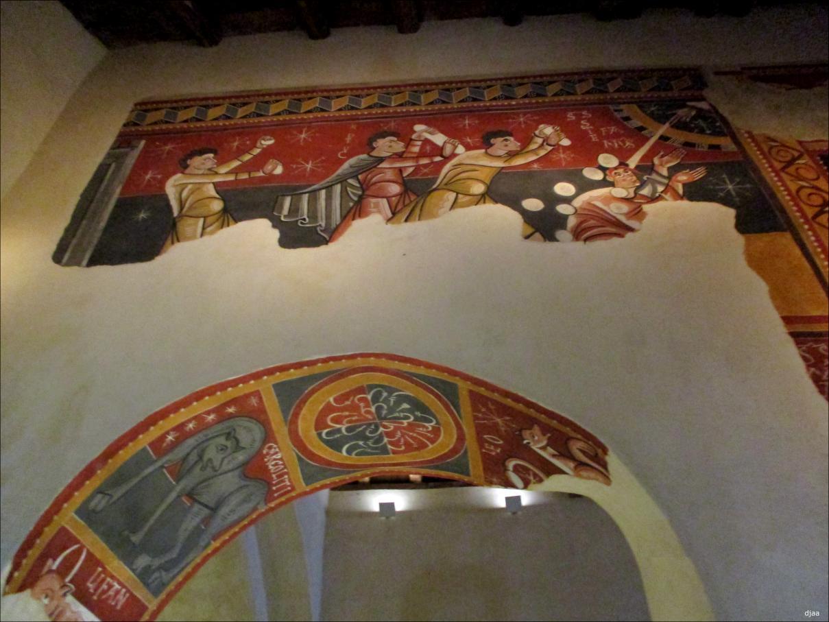 Resultado de imagen de Santa Joan de Boí detalle de la lapidación de San Esteban