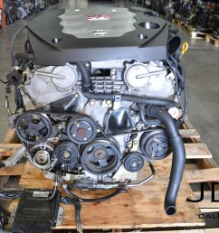 jdm vq35de for infiniti g35 nissan 350z 3 5l v6 engine 03 04 jdm 03 350z parts diagram engine covers [ 1232 x 816 Pixel ]