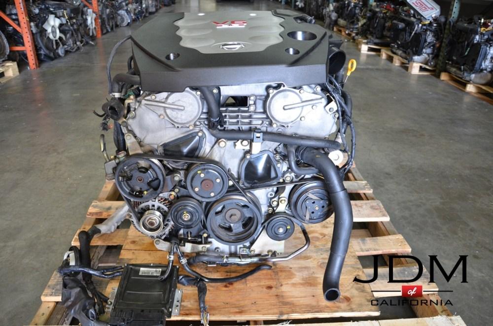 medium resolution of jdm vq35de for infiniti g35 nissan 350z 3 5l v6 engine 03 04 jdm 03 350z parts diagram engine covers