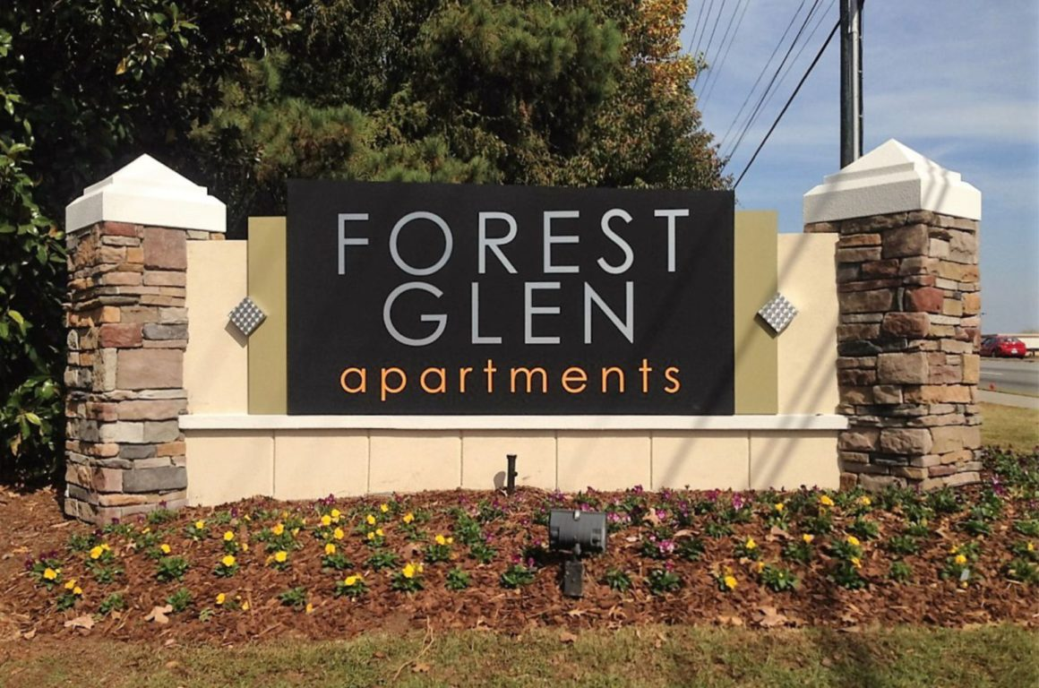 Forest glen apartment ID sign