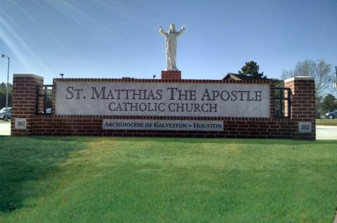 St. Matthias The Apostle catholic church sign