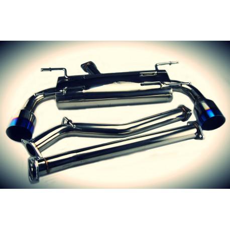 toyota gt86 toyosports dual catback exhaust system titanium tip jdm heart
