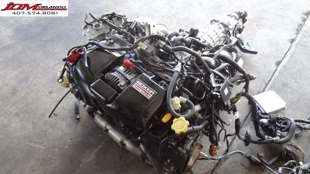 medium resolution of 99 04 subaru legacy gt be5 b4 twin turbo engine transmission wiring ecu jdm ej208