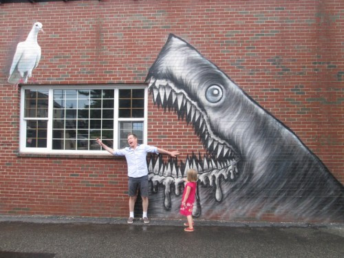 Fun with street art, in Portsmouth, NH.