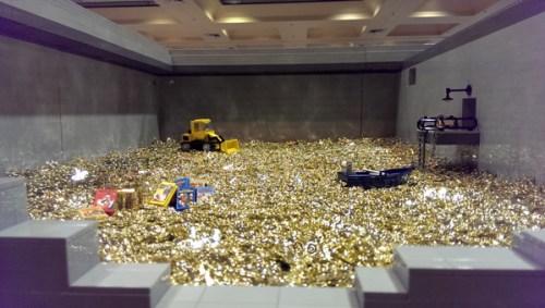 Scrooge McDuck's gold vault.