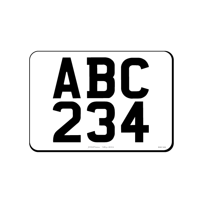 6 Digit Small Square JDM Front Bespoke Legal Number Plate