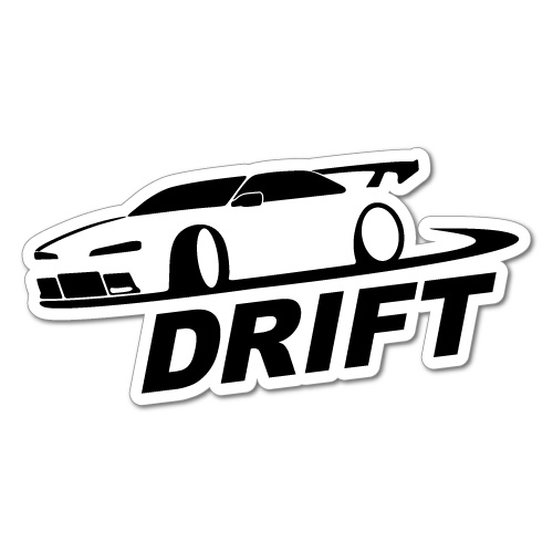 CAR OUTLINE DRIFT JDM Sticker Decal Car Drift Turbo Euro