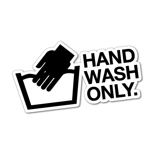 HAND WASH ONLY JDM Sticker Decal Car Drift Turbo Euro Fast