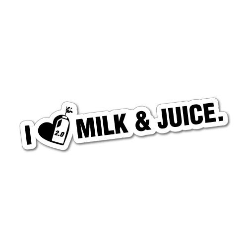 I LOVE 2L MILK AND JUICE JDM Car Sticker Decal Car #0139E