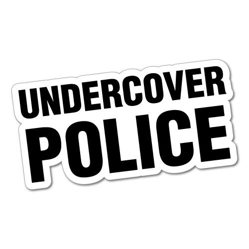 UNDERCOVER POLICE JDM Sticker Decal Car Drift Turbo Euro