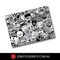Stickerbomb-Black-and-White-A4-Plus-Size---220mm-x-300mm-W