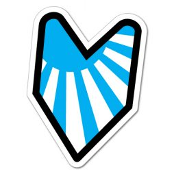 0792HP---RISING-SUN-BLUE-LEAF-JDM-STICKER-DECAL