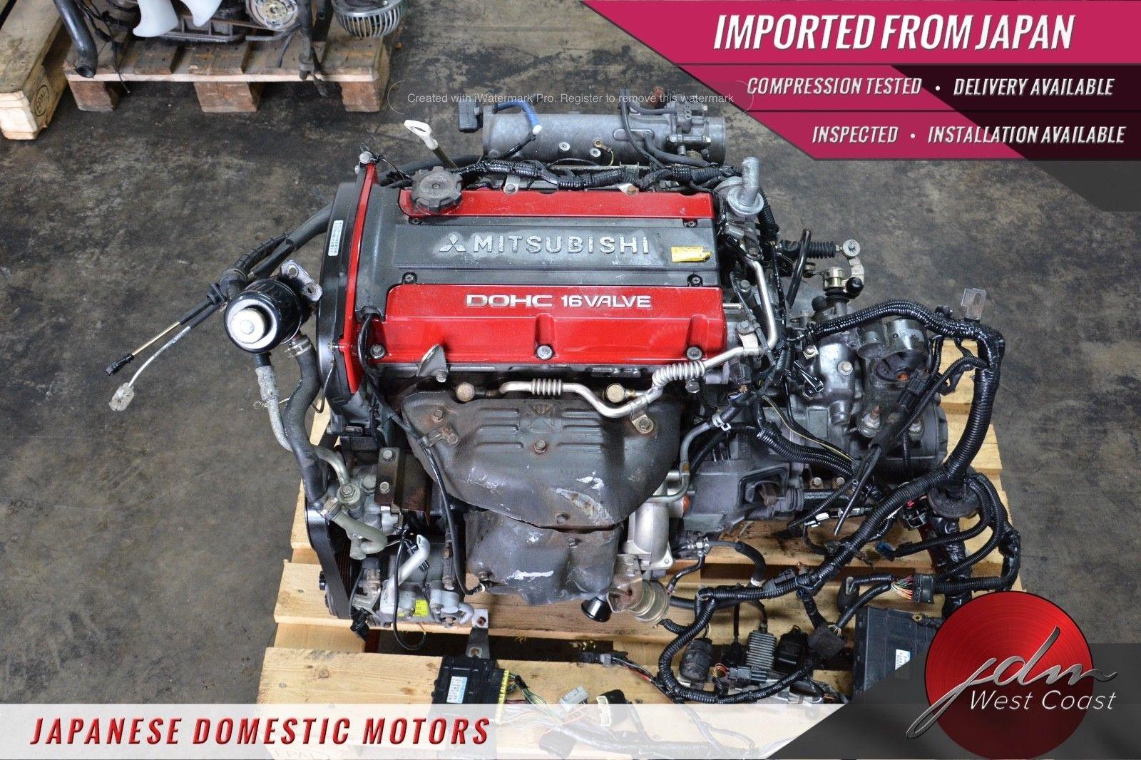 hight resolution of jdm mitsubishi 4g63 evolution vii 7 4g63 engine only ecu wiring 2 0l turbo