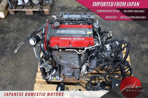 small resolution of jdm mitsubishi 4g63 evolution vii 7 4g63 engine only ecu wiring 2 0l turbo
