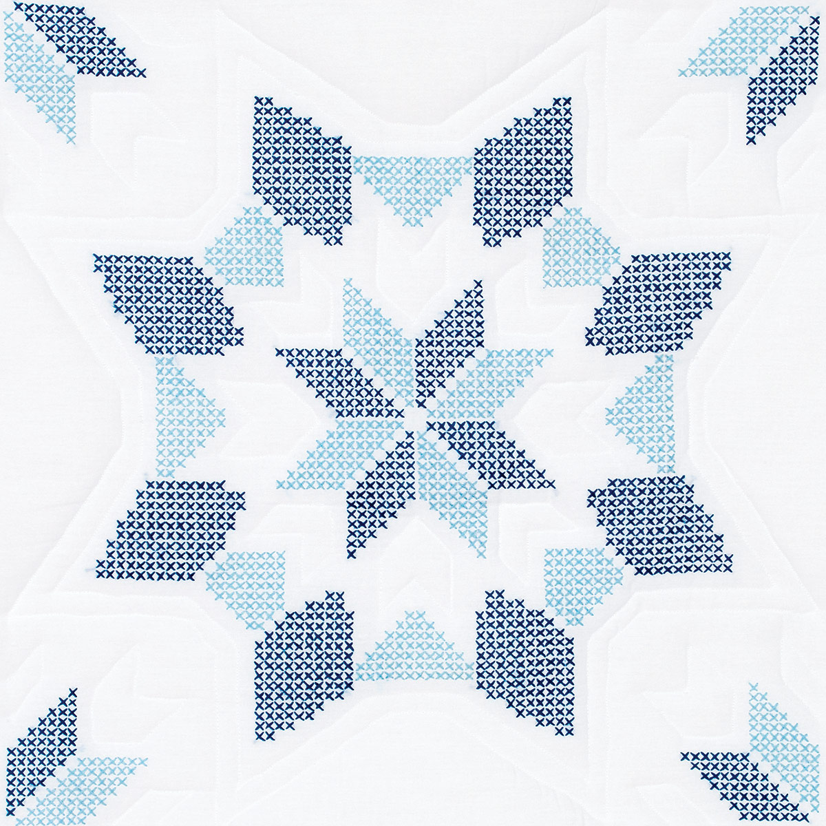 Interlocking XX Western Star 18 Quilt Blocks  Jack