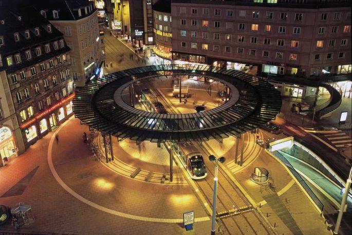 Arrt Homme de Fer  Tram de Strasbourg horaire tarif carte correspondance