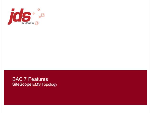 SiteScope EMS Topology