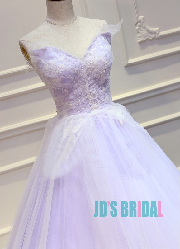 JW16191 Top Colored Lilac Purple With White Wedding Prom
