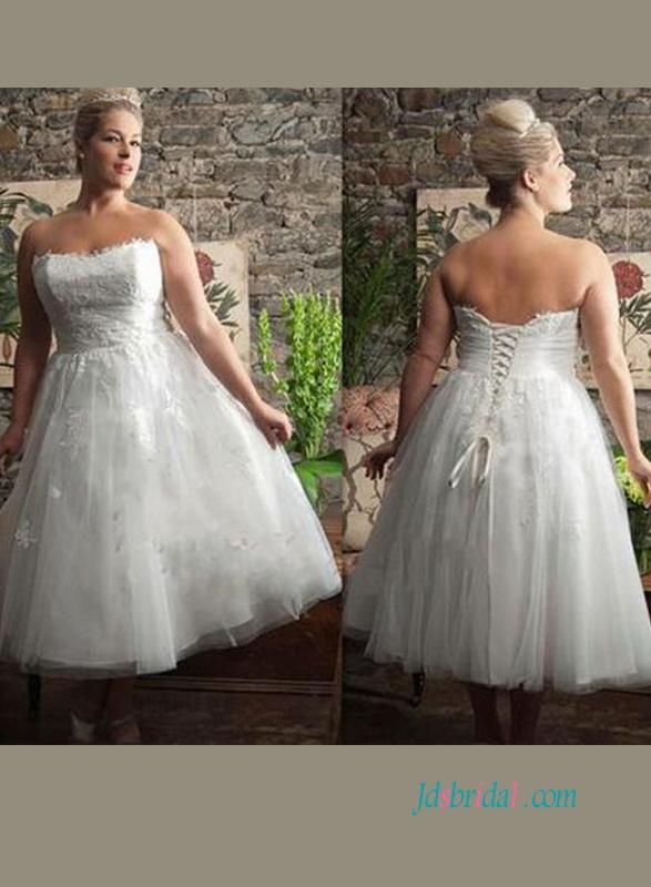 Plus Size Tea Length Wedding Dresses 2