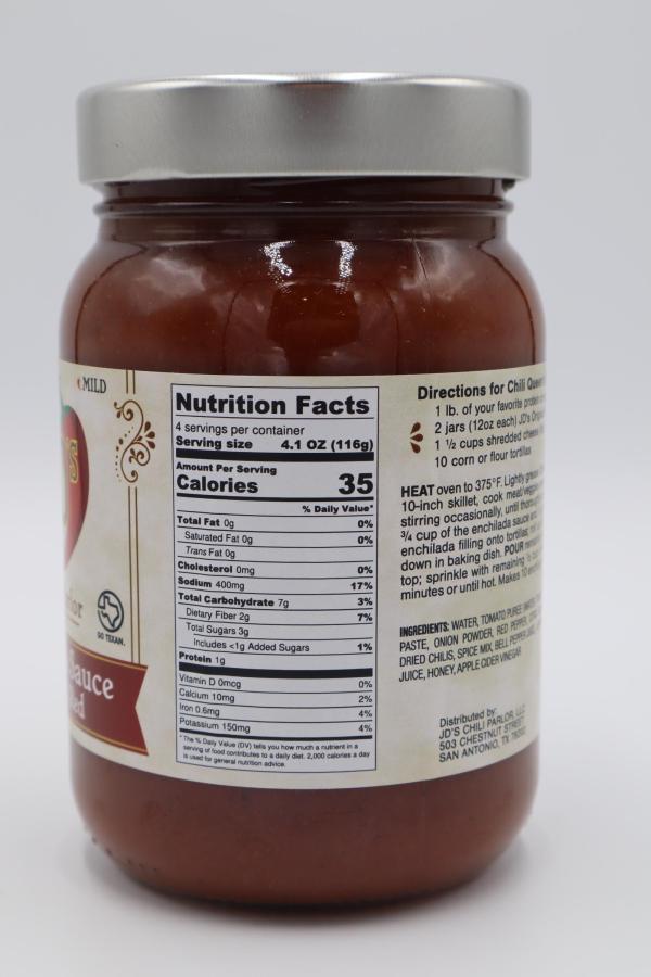JD's Chili Parlor Original Enchilada Sauce